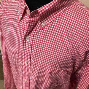 j crew shirt 2-plyred white 100% cotton check